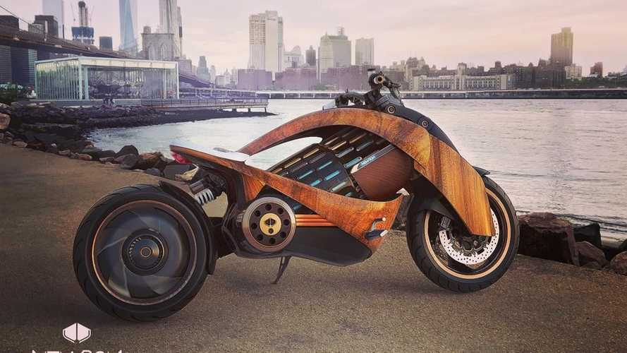 Wooden electric motorcycle is a dangerous beauty