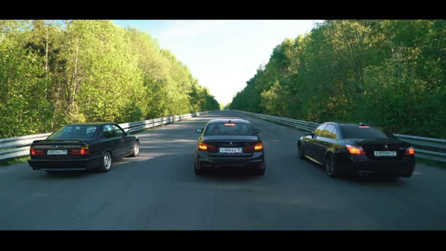 BMW M5 Three-Way Drag Race Pits Old Generations Against New