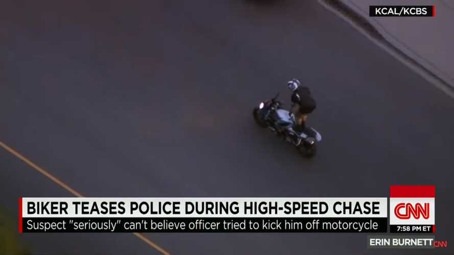 Foolish LA Rider Evading Police Survives High-Speed Pursuit