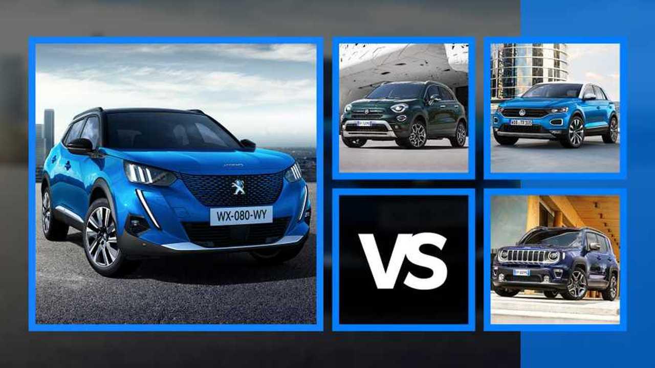Nuova Peugeot 2008 e le rivali