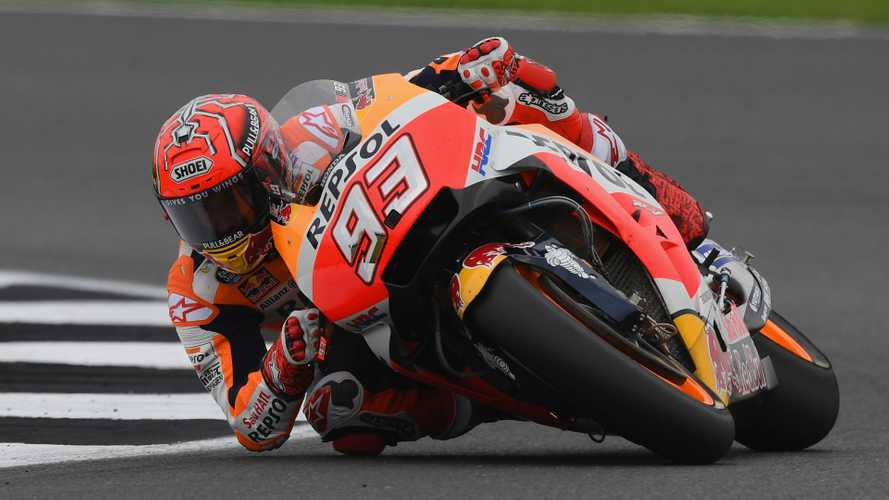 Spectacular: Marquez crashed at 26-times the force of gravity