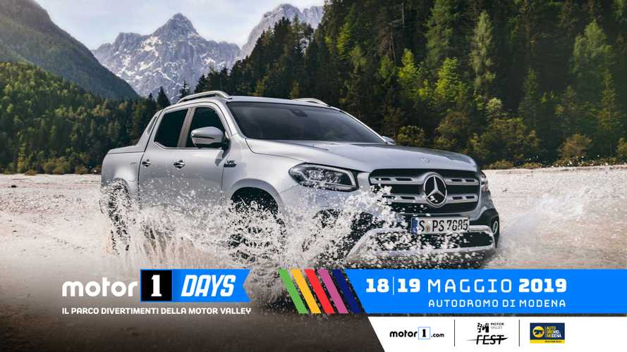 Mercedes-Benz Classe X, un pick-up ai Motor1Days