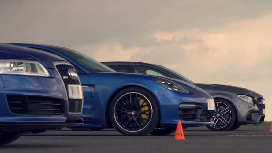 Tuned Audi RS6 Faces AMG E63 S, Panamera Hybrid In Drag Race