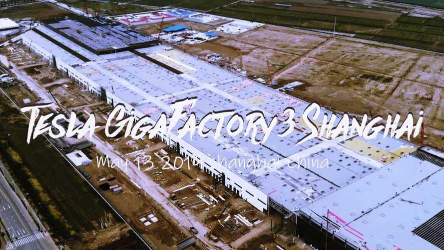 Tesla Gigafactory 3 Construction Progress May 13, 2019: Video