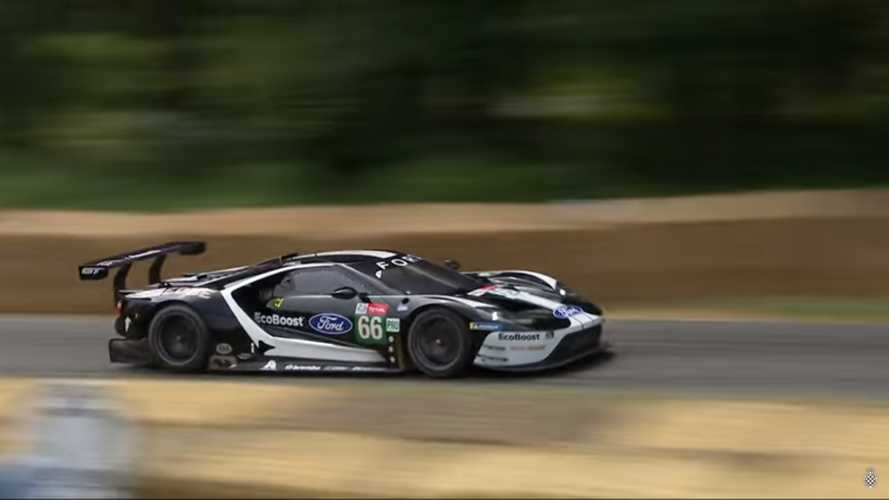 Watch This Ford GT GTE Pro Wobble Its Way Up Goodwood [UPDATE]