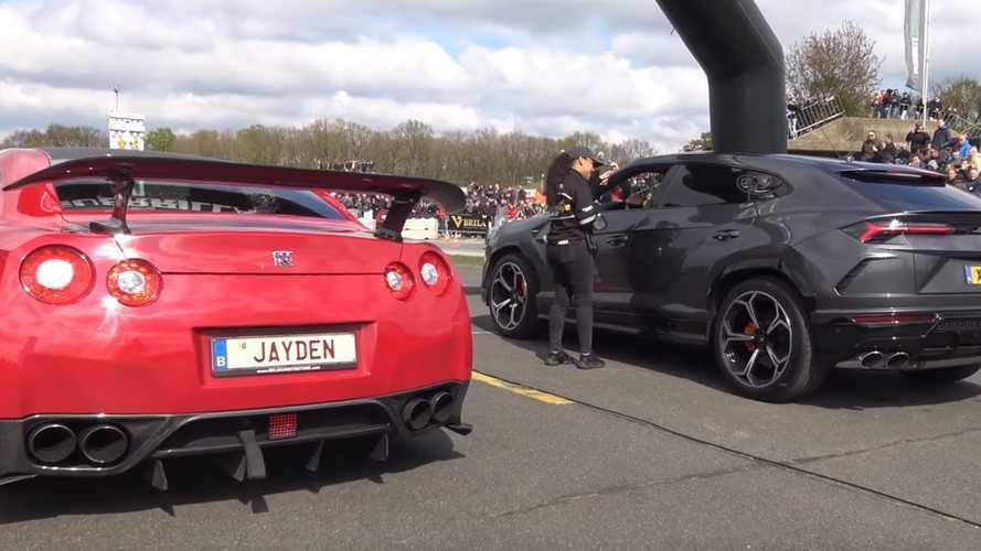 Nissan GT-R ile Lamborghini Urus'un drag yarışını izleyin