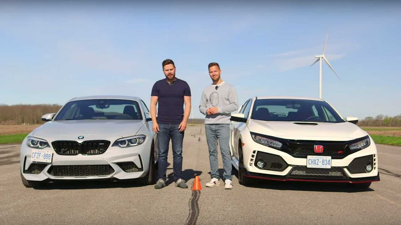 bmw m2 competition vs honda civic type r in unlikely drag race. Black Bedroom Furniture Sets. Home Design Ideas