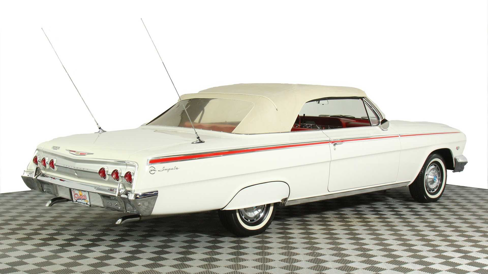 """[""""Ride Low And Slow In This 1962 Chevrolet Impala Convertible""""]"""
