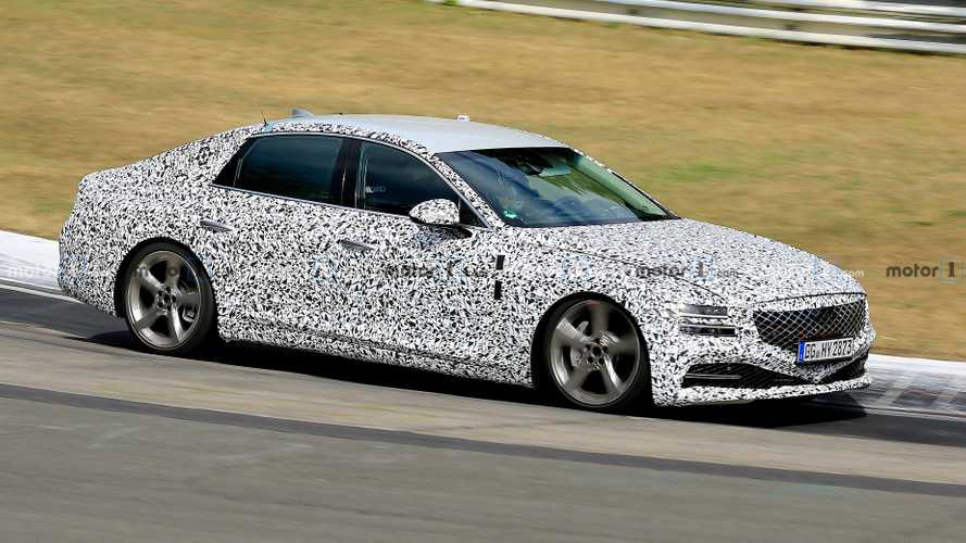 2020 Genesis G80 Drops Heavy Camouflage In Latest Spy Shots
