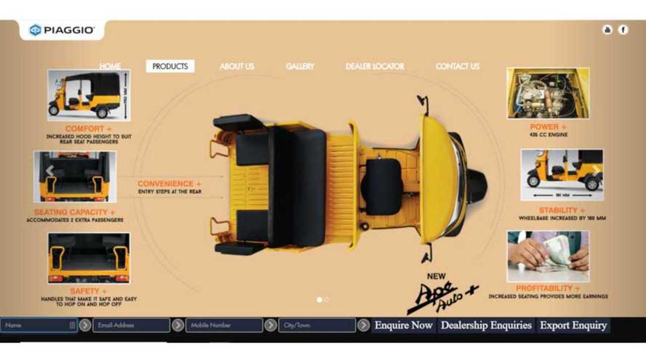 Piaggio India Ape Auto+