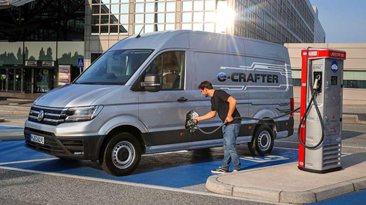 Volkswagen e-Crafter dà la scossa ai large van