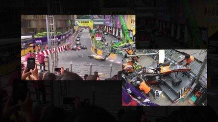 Huge Macau GP Crash Saw Formula 3 Car Flying Off Race Track