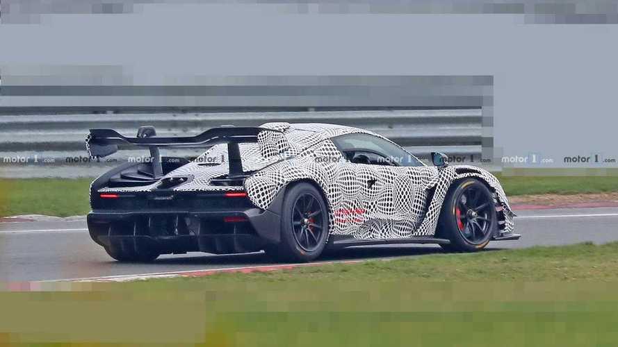 La McLaren Senna GTR de 825 ch s'échauffe sur le circuit