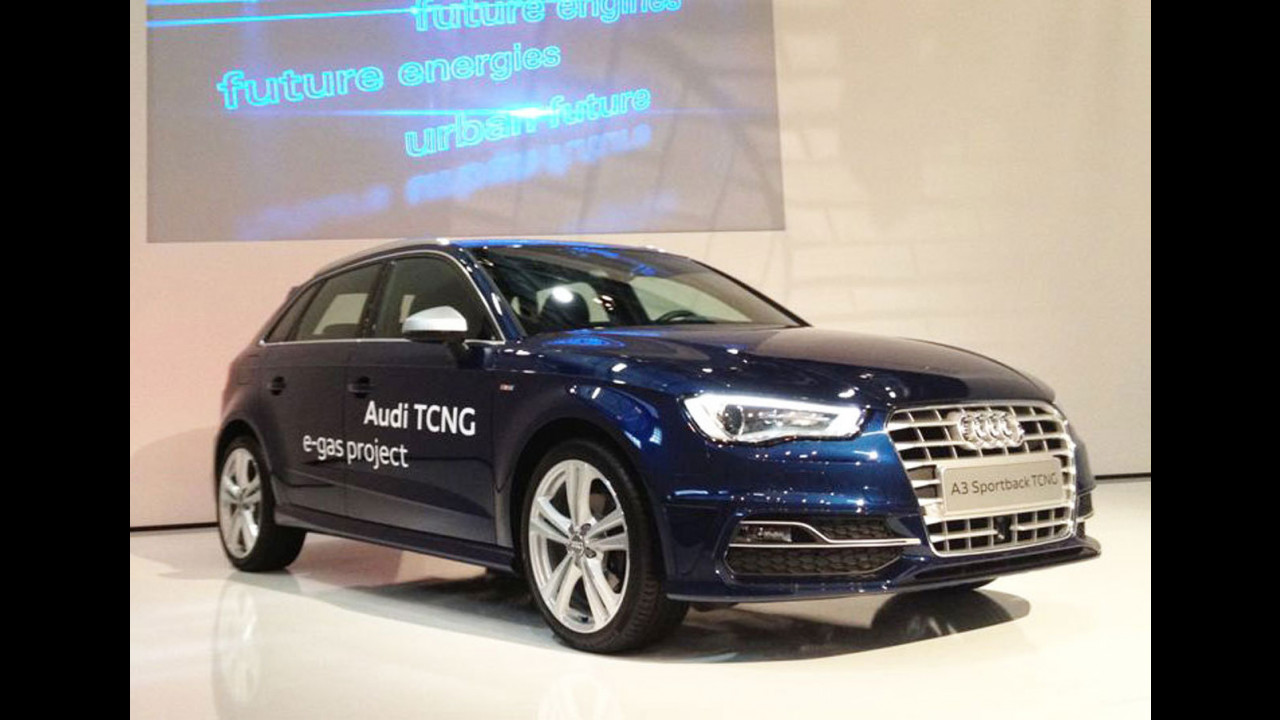 Nuova Audi A3 Sportback TCNG al Salone di Parigi 2012