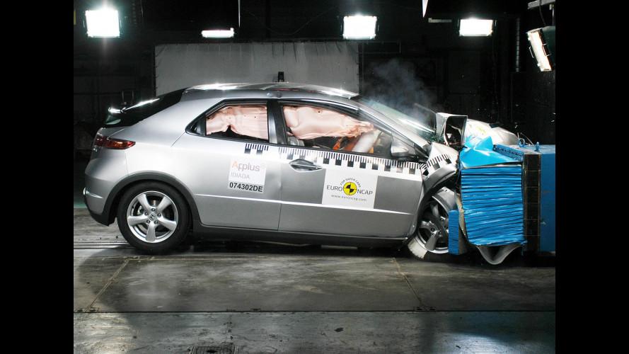 4 stelle EuroNCAP alla Honda Civic