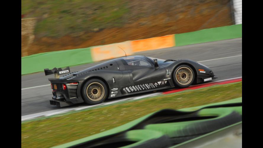 Ferrari P4/5 Competizione: shakedown a Vallelunga