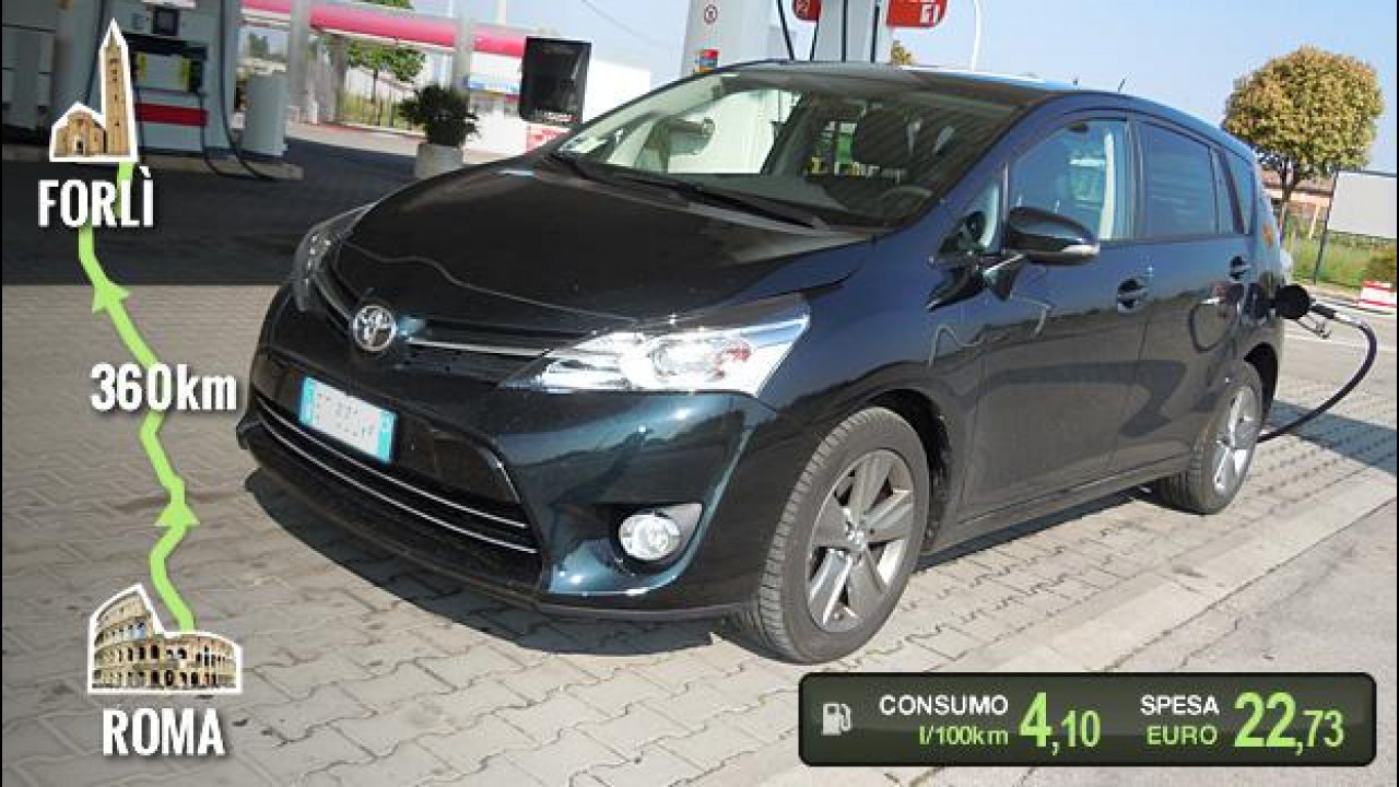 [Copertina] - Toyota Verso 1.6 D-4D, la prova dei consumi