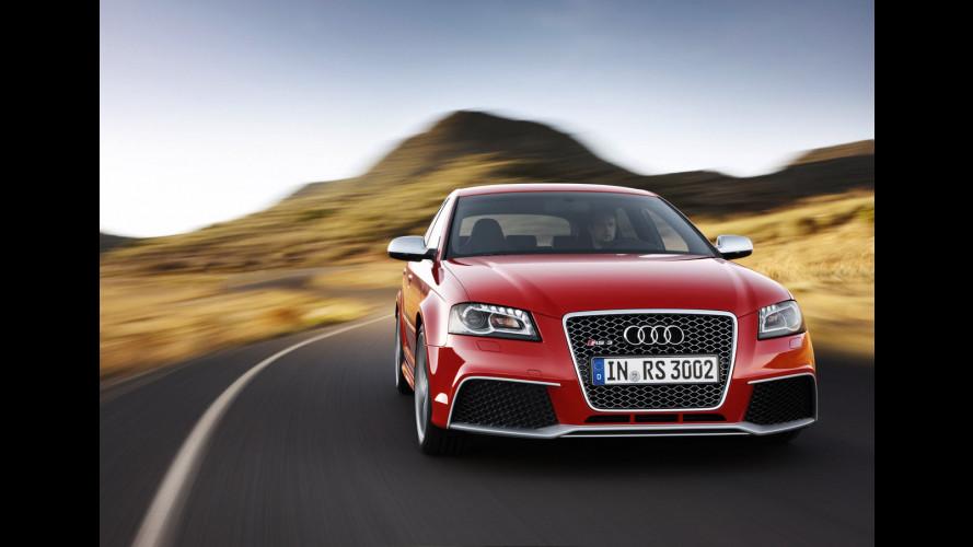 Il prezzo dell'Audi RS3 Sportback: 52.100 euro