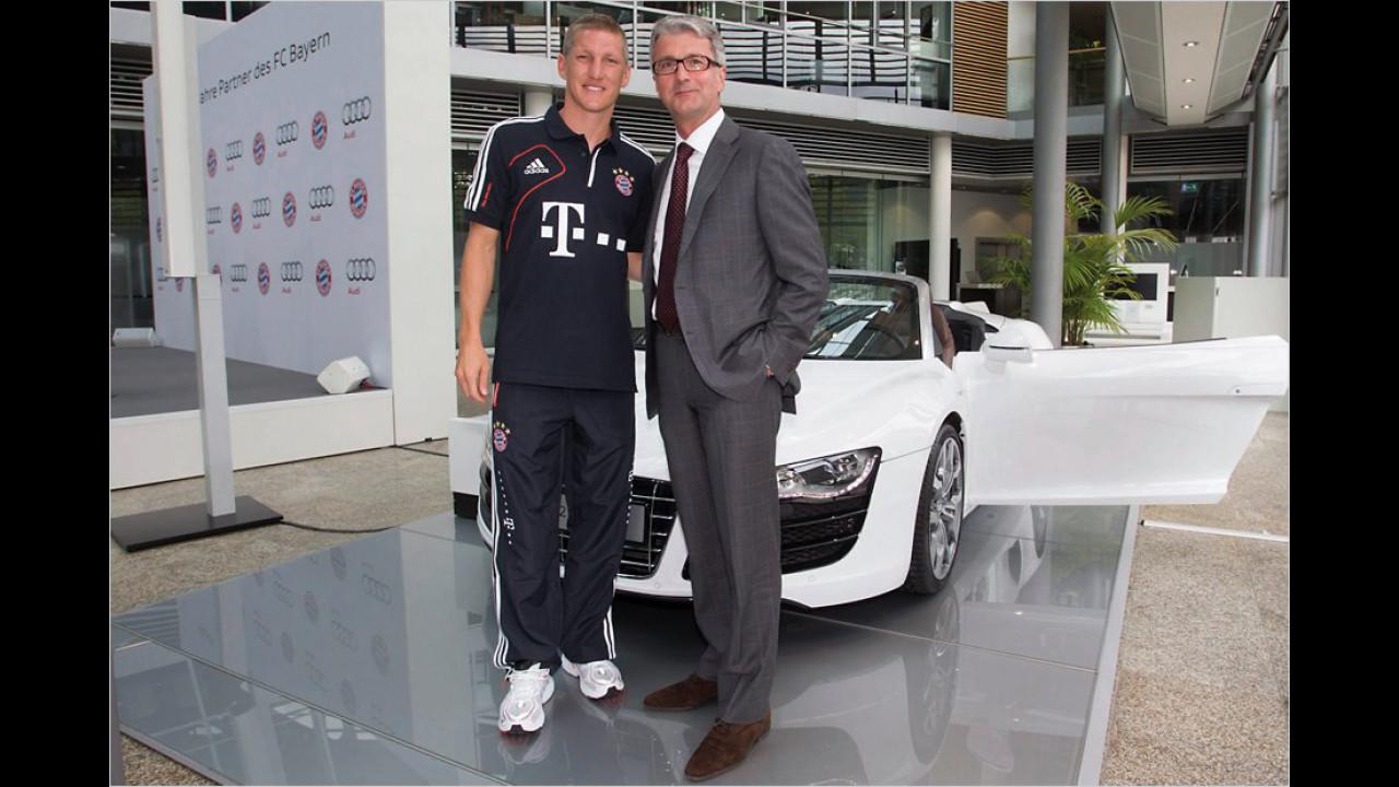 Bastian Schweinsteiger: Audi R8 Spyder