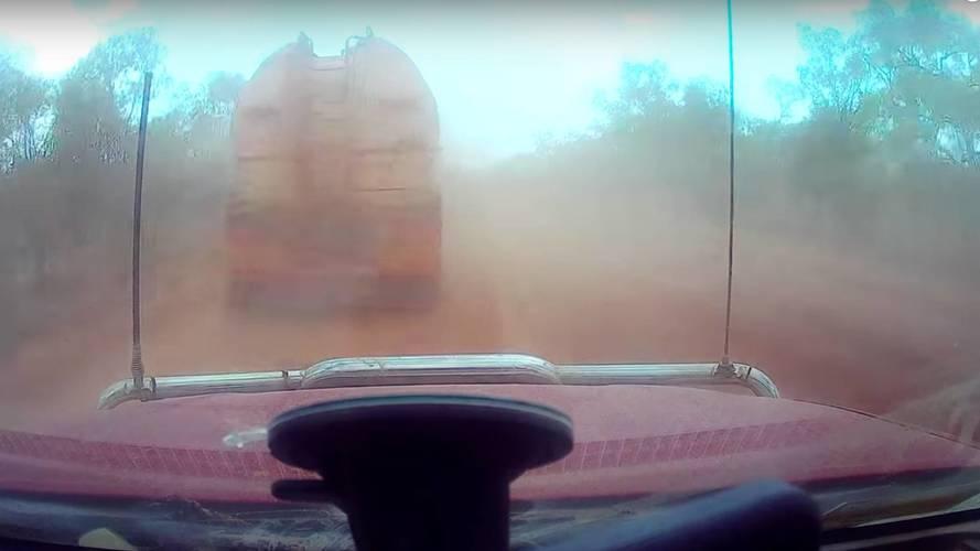 Toz bulutu Avustralya'da kazaya sebep oldu