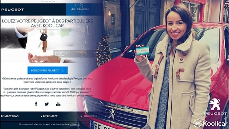 Peugeot, il car sharing tra privati si evolve