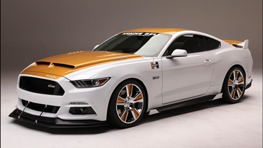 Ford Mustang, fino a 1.500 CV in bianco e oro