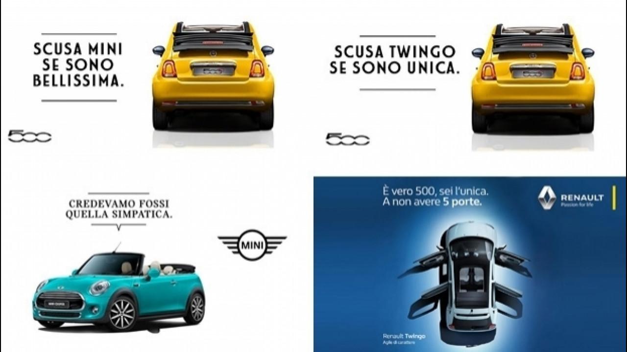 [Copertina] - Fiat vs Renault e MINI, battibecco ironico sui social