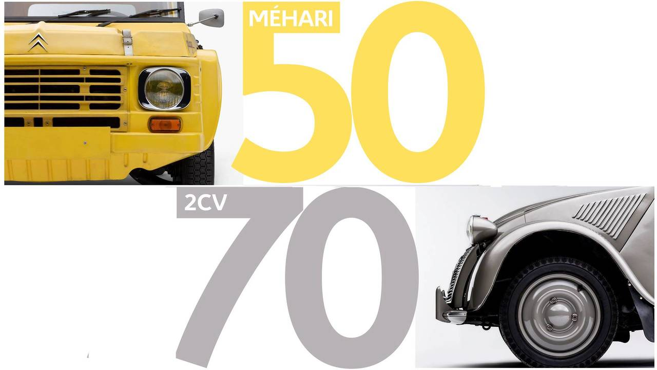 Anniversaires Méhari et 2CV Citroën