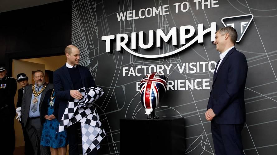 El príncipe Guillermo de Inglaterra visita Triumph