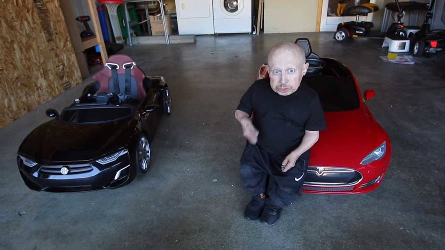 Verne Troyer – AKA Mini Me – Gets A Tesla For Christmas