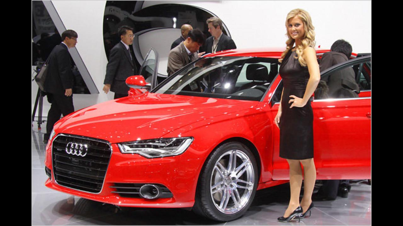 Mit einem Audi kommt man bei den Damen an