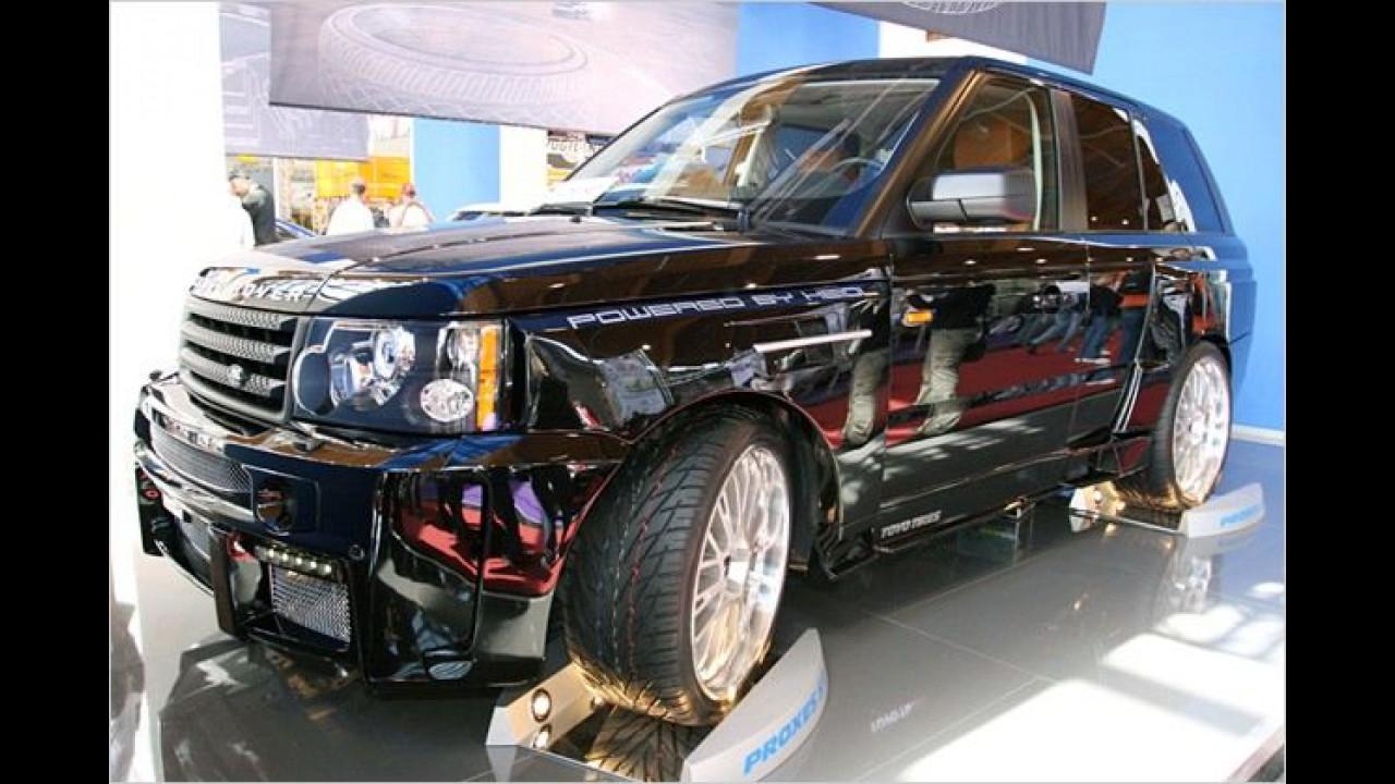 Satte 540 PS stecken unter der unscheinbaren Hülle des Range Rover Sport ,Different