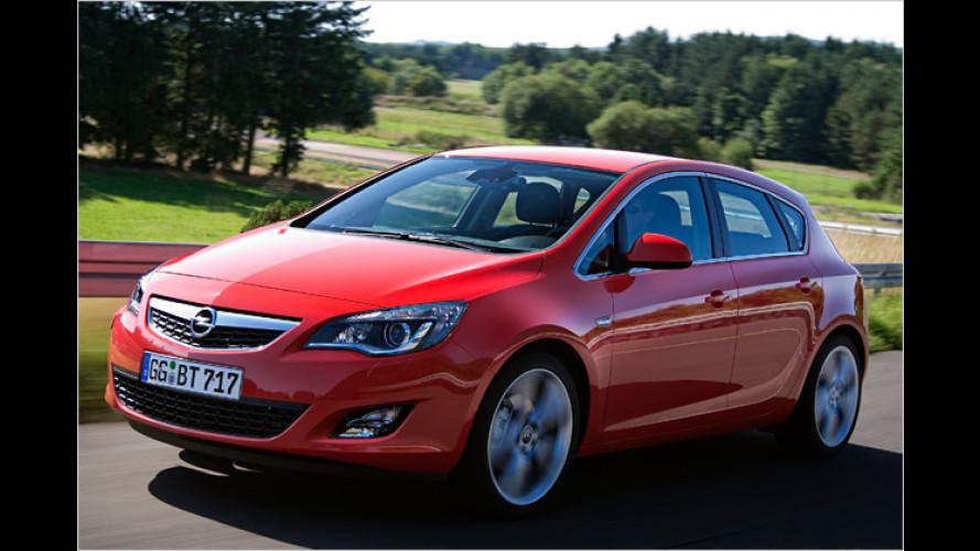 Opel-Astra-Motoren werden fast durchgängig sparsamer