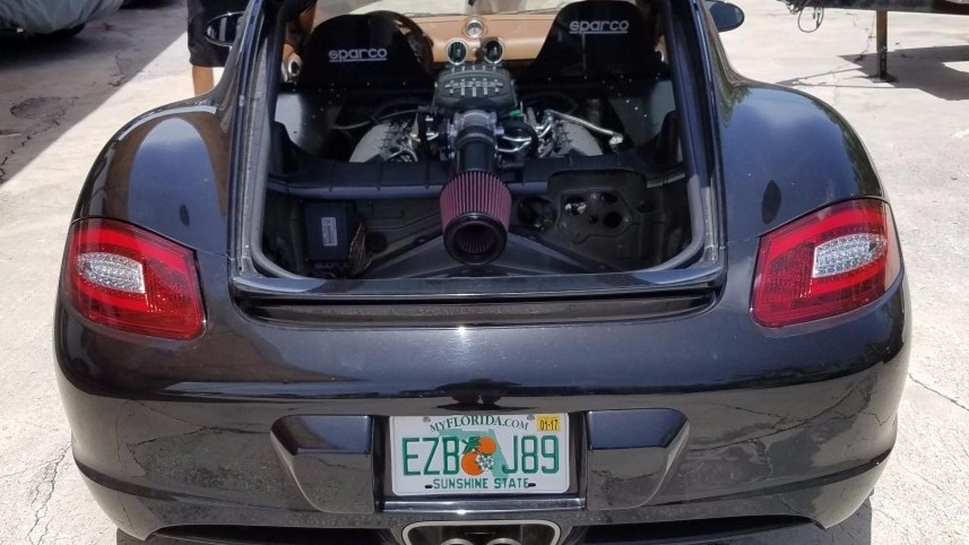 Porsche Cayman receives Ford 5 0L V8 conversion