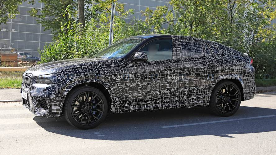2020 BMW X6 M sighted wearing a black suit