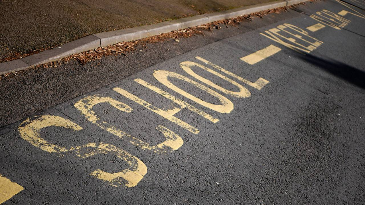 No parking in school zone keep clear