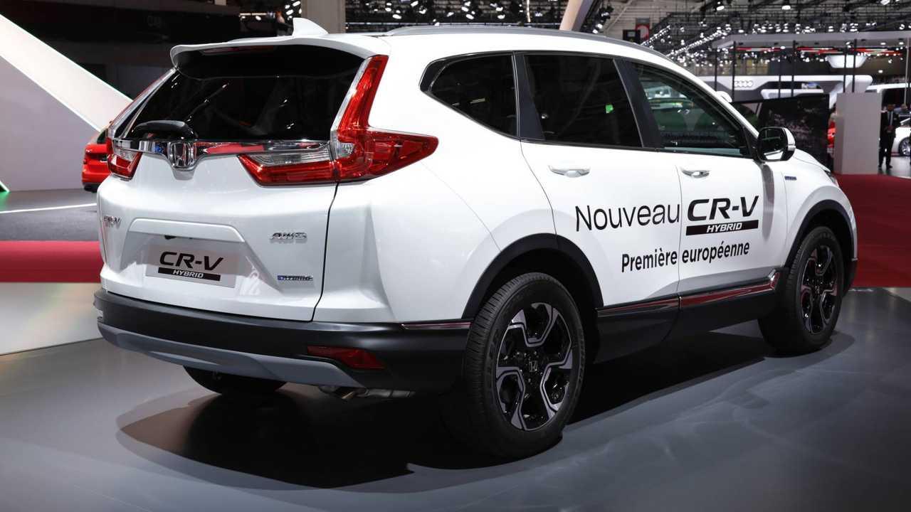 Production Ready Honda Cr V Hybrid Arrives At Paris Motor Show