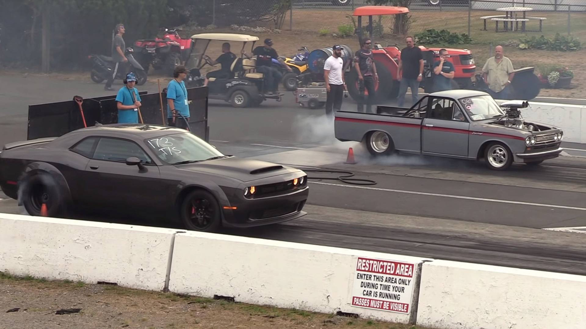 Watch (Nearly) Stock Dodge Demon Do Quarter Mile In 9 83 Seconds