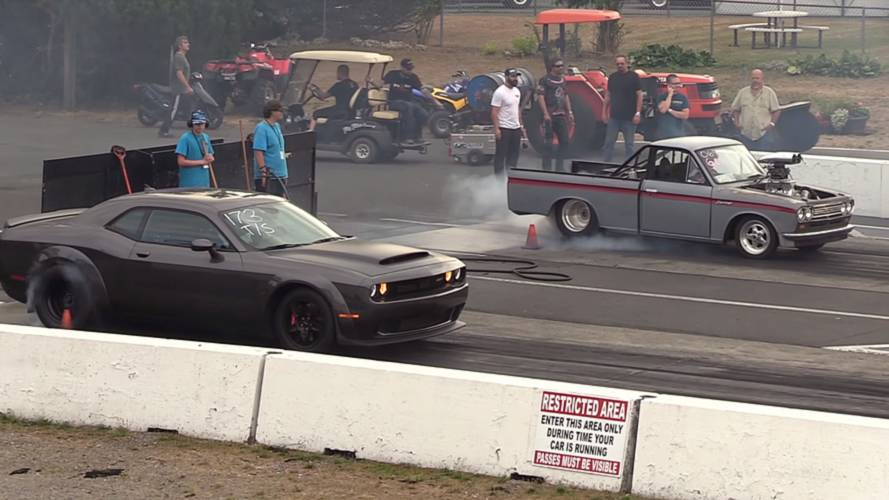 Watch (Nearly) Stock Dodge Demon Do Quarter Mile In 9.83 Seconds