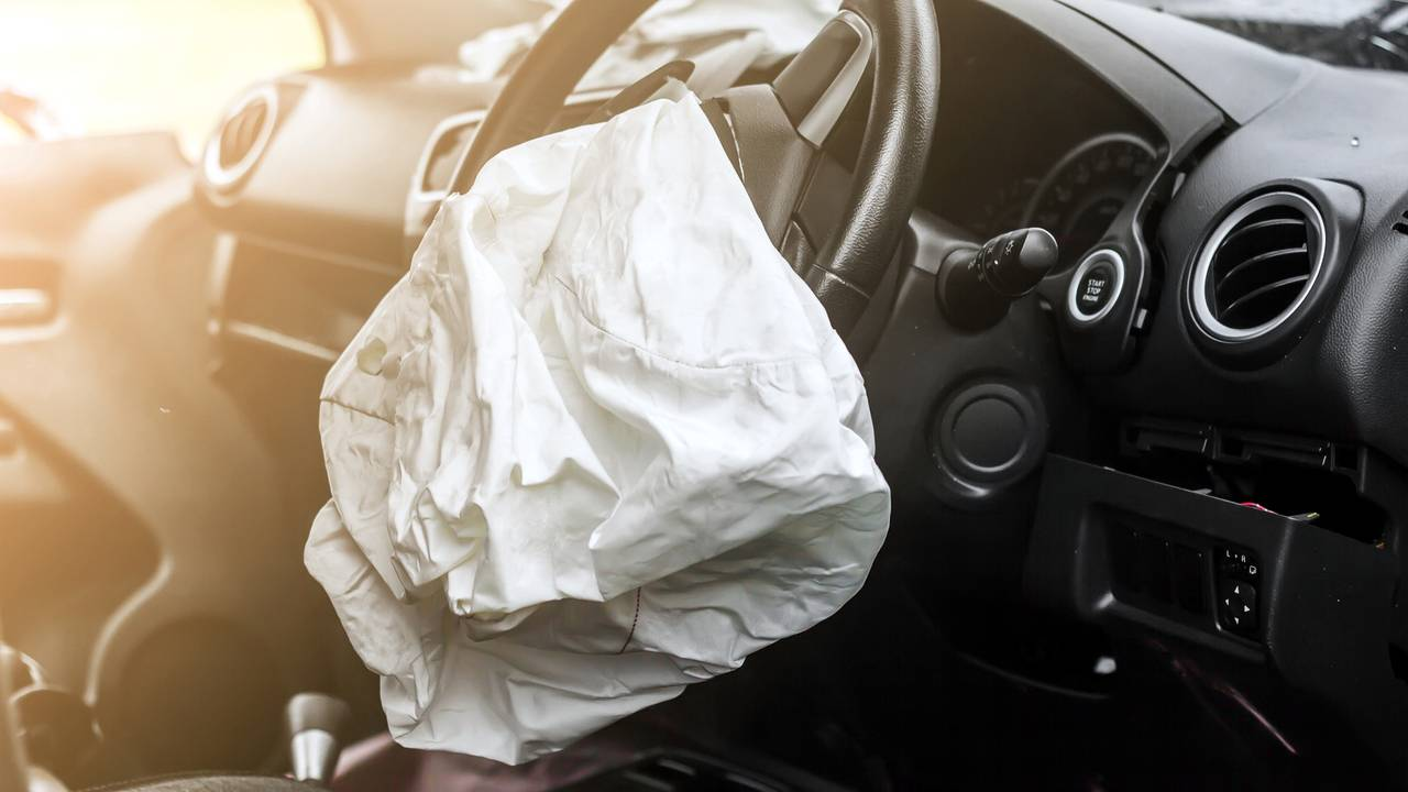 Airbag exploded in car accident