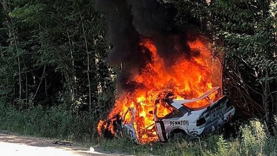 VIDÉO - La Ford Escort RS Cosworth de Ken Block détruite par les flammes