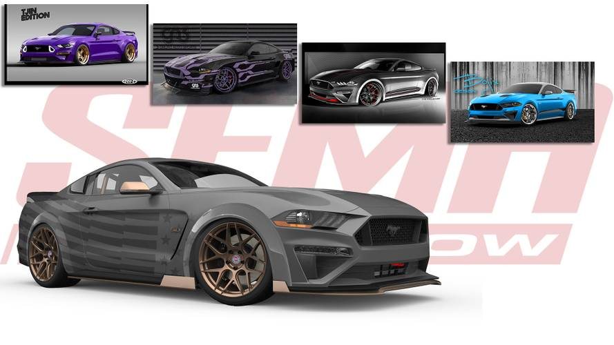 Quintet Of Custom Ford Mustangs Head To SEMA
