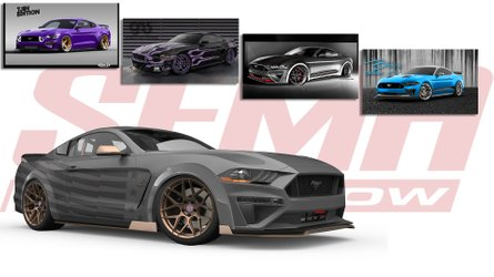 Quartet Of Custom Ford Mustangs Head To SEMA