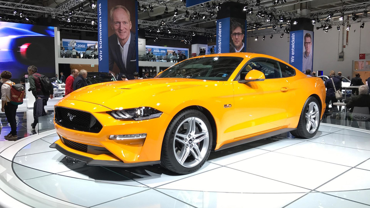 2018 Ford Mustang Arrives In Europe With 450 Hp 2002 Fuel Filter Live Frankfurt