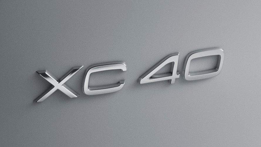 2018 Volvo XC40 name badge