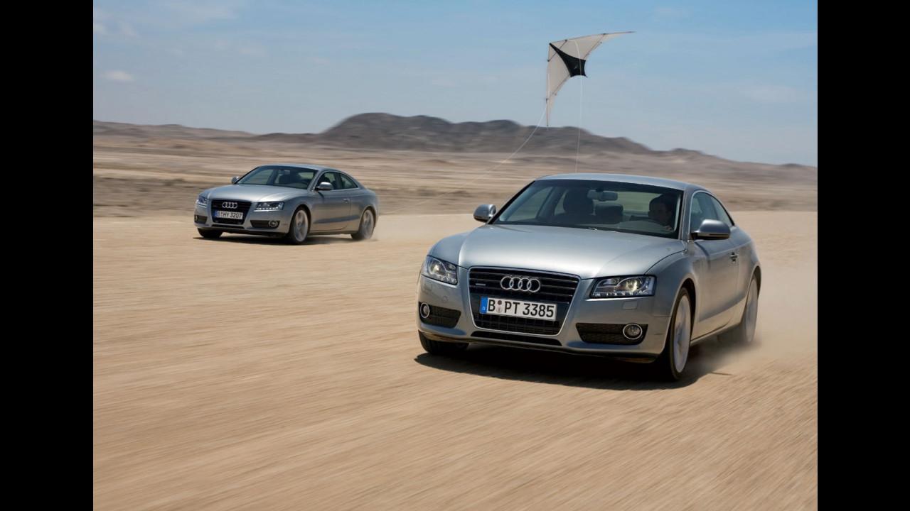 Audi A5 fa volare gli aquiloni