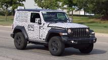 Jeep Wrangler Euro Spec spy photo