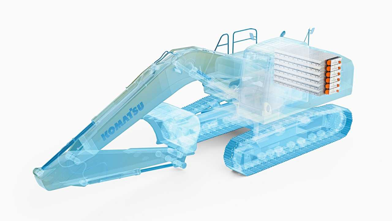 Komatsu All-Electric Construction Equipment, excavator