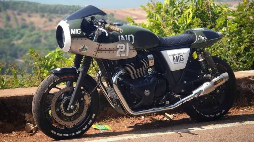 This Custom Royal Enfield Cafe Racer Is A Jet-Inspired Dream
