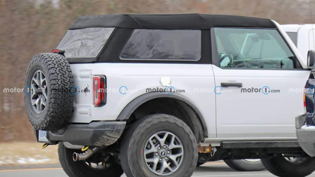 Ford Bronco Two-Door Soft Top Spy Photos  Roof Detail